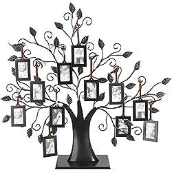 Arbre cadre photo - arbre d'affichage d'affichage de cadres à la mode de la famille 6/12, avec cadres à accrocher, décor à la maison (Taille : 12Photo Frame)