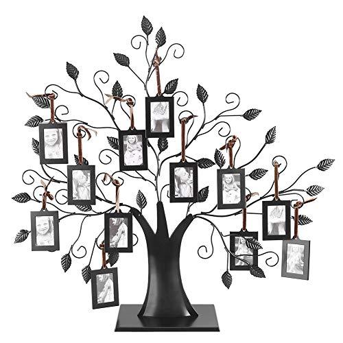 Dewin Baum-Fotorahmen - fotorahmen 6/12 Modische Familienbilderrahmen, familienbaum mit Baum mit hängenden Bilderrahmen, Inneneinrichtungen (Größe : 12Photo Frame)