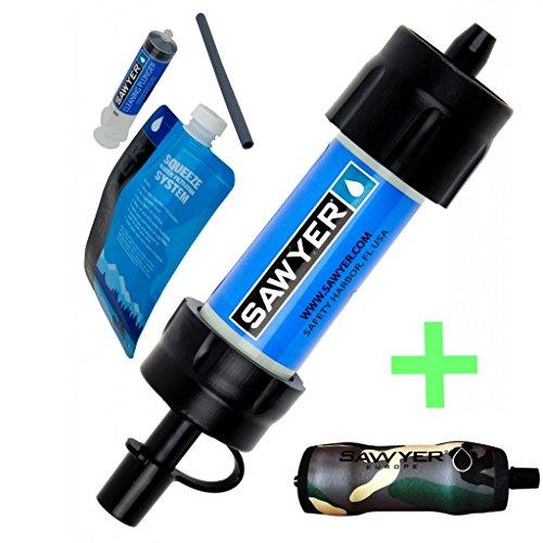 Winterset Sawyer Mini Wasserfilter + Camouflage Wärmeschutzhülle Vorteilspack
