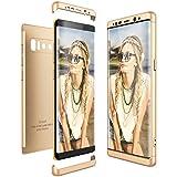 CE-Link für Samsung Galaxy Note 8 Hülle Hardcase 3 in 1 Handyhülle Ultra Dünn 360 Grad Full Body Schutz Schutzhülle Bumper - Gold