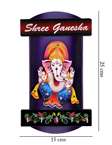 Shree Ganesha Key Chain Holder | Wall Hanging Key Holders For Wall Decor | Key Stands ( Size : 25x15 cms ) For Interio Crafts.  available at amazon for Rs.215