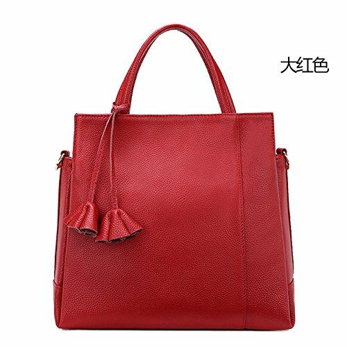 GUANGMING77 Borsa A Tracolla _ Soft Goffrato Bulk Ladies Borsetta Tracolla,Claret Red red