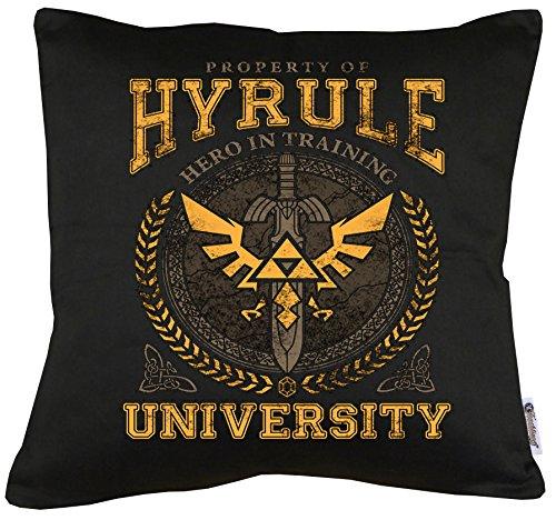 TLM Hyrule University Kissen mit Füllung (Kostüme Hunde Super Für Mario Halloween)