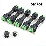 10x Connecteur DC mâle / femelle verser caméra de vidéo surveillance 2,1 x 5,5 mm