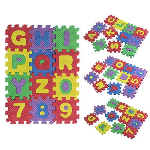 Preisvergleich Produktbild Internet 36Pcs Baby Kind Nummer Alphabet Puzzle EVA Schaum Mathematik pädagogisches Spielzeug Geschenk