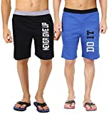 #7: hotfits men's Multi-Coloured graphic cotton Shorts-bknvr-rbdoit