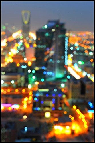 Bild mit Rahmen Hady Khandani - RIYADH BLURR - SAUDI ARABIA - Digitaldruck - Alimunium schwarz glänzend, 40 x 60cm - Premiumqualität - HADYPHOTO, Fotografie, Photografie, Vorderasien, Saudiarabien Panorama, Stadt, Riad, .. - MADE IN GERMANY - ART-GALERIE-SHOPde