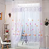 Best Home Fashion Sheer Curtains - Zibuyu Color Lotus Sheer Voile Door Window Curtains Review