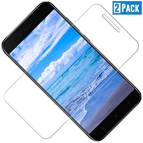TOIYIOC [2 Stück Panzerglas Schutzfolie für Xiaomi MI A1/5X, 0.30mm Ultra-klar Folie Panzerglasfolie, Displayschutzfolie kompatibel Xiaomi MI A1/5X