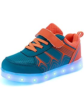 [Patrocinado]DoGeek Zapatos Led Deportivos para Hombres Mujeres 7 Color USB Carga LED Luz Glow Luminosos Zappatillas Light...