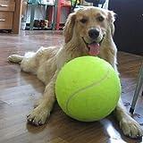 Alxcio Balle de tennis pour Chiens Air Squeaker Jouets Animaux de Compagnie Exercice de Formation Géant Diamètre 24cm (9.5 pouces)