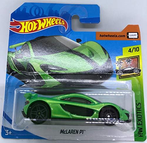 Hot Wheels 2018 McLaren P1 Green 4/10 HW Exotics 317/365 (Short Card)