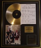 AC/DC/CD GOLD DISC, SONG SHEET & PHOTO DISPLAY/LTD. EDITION/COA/ALBUM BACK IN BLACK/SONG SHEET, BACK IN BLACK
