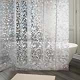 #4: Kuber Industries™ 0.20mm PVC Shower Transparent Curtain in Coin 3D Design (Width-54 inches X Height-84 inches) 7 Feet (C0825)