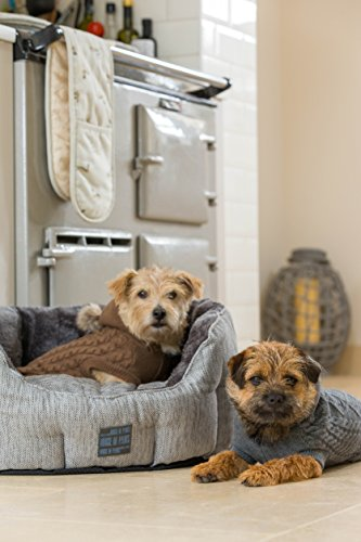 House-of-Paws-Hessian-Oval-Dog-Bed-Small-Grey