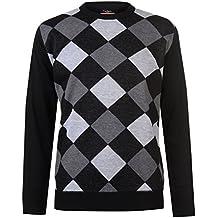 Pierre Cardin Hombre C Jersey Cuello Redondo Diseño Diamantes Negro/Gris/Wine XXL ybNOvLlK