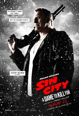 SIN CITY : DAME TO KILL FOR – Mickey Rourke – US Imported Movie Wall Poster Print – 30CM X 43CM Brand New (To Sin Dame City Für Kill Dvd)
