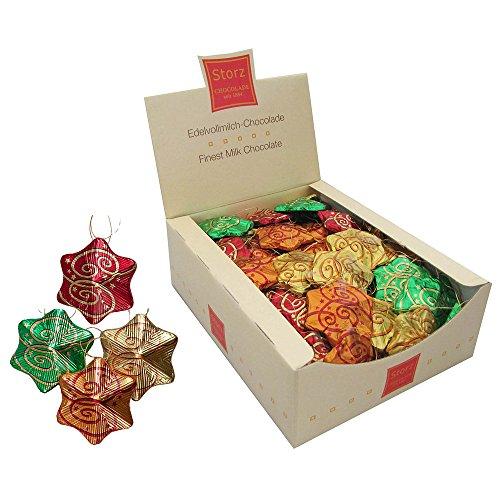 Preisvergleich Produktbild Storz - Weihnachtssterne aus Schokolade Vollmilch-Schokolade - 1250g