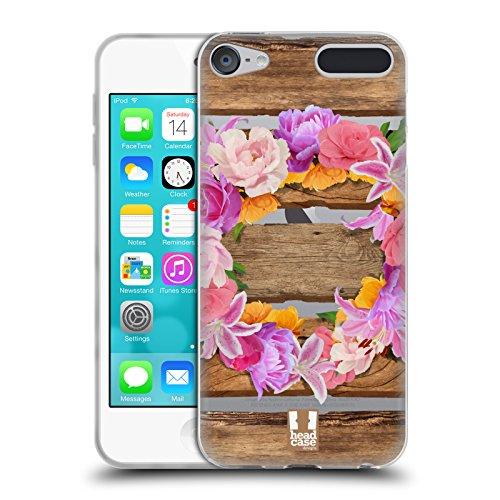 Head Case Designs Kranz Holz und Blumenbilder Soft Gel Hülle für Apple iPod Touch 6G 6th Gen (Soft Touch Kranz)