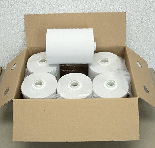 Rehberg´s Handtuchrollen 1 VE = 6 Papierrollen geeignet für LOTUS enMotion und Spender TORK H13 Rollenbreite 23,5 cm + Adapter = 25 cm 140 m 2-lagig Ø-18 cm