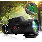 Getko With Device Monocular Telescope 40x60 High Powered Monocular Scopes Dual Focus Optics Waterproof/Anti-Fog Spotting Scopes Low Night Vision Telescope for Outdoor Hiking, Hunting,Camping