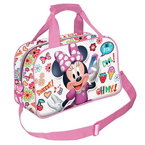 Karactermania Minni Mouse Ohmy!-Borsa Sportiva Bolsa de Deporte Infantil 38 Centimeters (Multicolour)