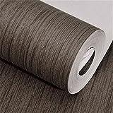 Maivasyy Pegatinas de pared Llanura impermeable adhesivo de pared de madera Salón Dormitorio Albergue Fondo papel tapiz