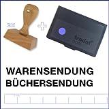 Bürostempel-3er-Set Warensendung + Büchersendung + Stempelkissen