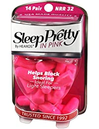 HEAROS Sleep Pretty In Pink Women's Ear Plugs 14 Pair + Free Mail In Case