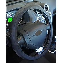 "'Excelente calidad,' universal Volante Negro para Coche Anti tobogán diámetro 37–39cm + 1Adhesivo de PC ""rodillos coche Europa gratis"