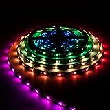 BTF-LIGHTING WS2811 5M 30 LEDs/m 150LEDs RGB DC12V Schwarz PCB Streifen mit 5050 SMD LEDs Wasserdicht IP65