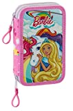 Safta - Plumier doble de Barbie con su unicornio (411810854)