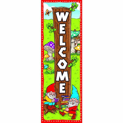 GARDEN GNOME WELCOME BANNER -