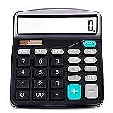Calculatrice,Calculatrice Standard,Alimentation Solaire et Fonctionnement sur Piles,12 Chiffres,Grand écran LCD,gros bouton, calculatrice de bureau