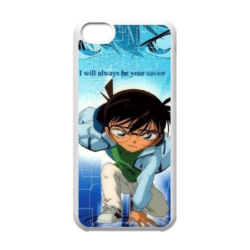 Detective Conan coque iPhone 5C Housse Blanc téléphone portable couverture de cas coque EBDXJKNBO10221
