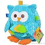 BLUE OWL DESIGN Sozzy Kids Plush Backpack Cartoon Frog Cow Owl Monkey Lion Cute School Bag Children Plush Book Bag Shoulders Bag Boys Girls Snack Bag