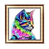logres Colorful Cat DIY 5D Diamant Gemälde Stickerei Mosaik Kreuzstich Home Decor