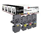 4 Original Reton Toner | 50% höhere Druckleistung | als Ersatz für Kyocera TK-5220 für Kyocera ECOSYS M5521cdn, M5521cdw, P5021cdn, P5021cdw