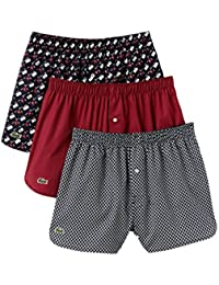 Boxer 3-Pack Trunk S-XL Lacoste Boxer Homme - Marine / Rouge