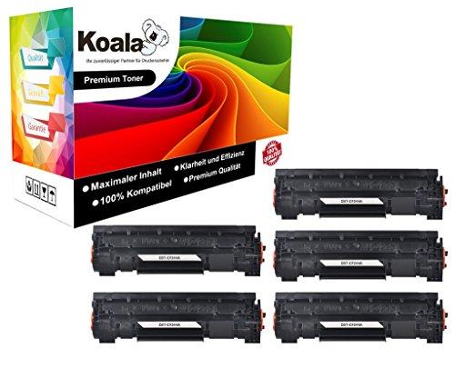 Koala Toner (3,4 Cent/Seit | 5 Stück) | Alternativ zu HP CF244A | 44A für HP LaserJet Pro M15a M15w M17a M17w/HP Laserjet Pro MFP M28a M28w M30a M30w (1000 Seiten/Schwarz/für HP)