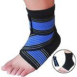Kniebandage und Fußglenkbandage für Sport, Verletzung, Genesung