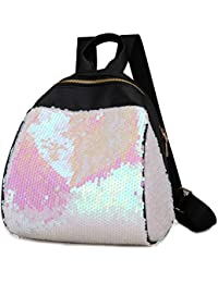 834a005a4a Sequin Backpack OULII Fashion PU Leather Shoulder Bag Casual Sequins  Backpack Travel School Bag Gift for
