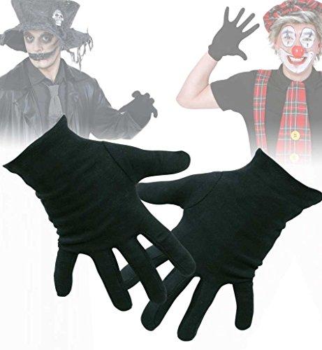 Handschuhe, für Erwachsene, in drei Farben erhältlich, schwarz, weiß oder rot, Winteraccessoire, Karneval. Fasching (Kostüm Bauer Jack)