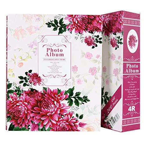 FamyFirst Jumbo álbum photovintage con Espacio para Notas–para 190Cámara–180Fotos 10x 15cm–10Fotos 15x 20cm–Motivo Flor–Regalo Navidad cumpleaños Boda