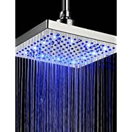 AI LI WEI Bathroom Furniture - 8 inch Brass Shower Head with Color Changing LED Light