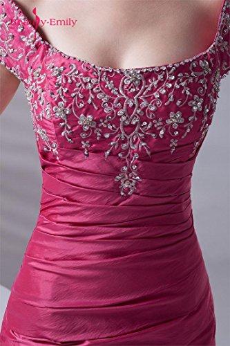 Beauty-Emily - Robe de chambre - Femme rose rouge