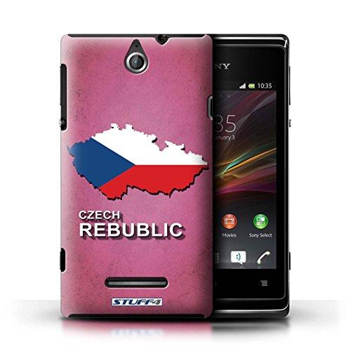 Kobalt® Imprimé Etui / Coque pour Sony Xperia E / Thaïlande/Thai conception / Série Drapeau Pays Tchèque/Czechian