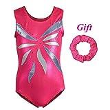 Hougood Mädchen Gymnastik Turnanzug Kinder Akrobatik Training Trikotanzug Dancewear 7-8 Jahre alte