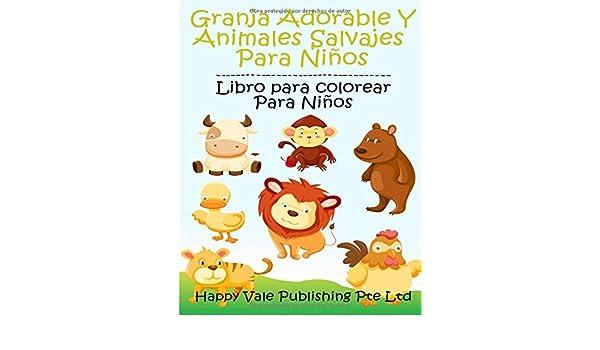 Buy Granja Adorable Y Animales Salvajes Para Niños: Libro Para ...