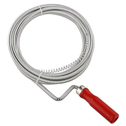 Sanixa GO124 Abfluss-Spirale Bad & Küche / 3,5 M, Ø 8mm / Flexible Rohrreinigungsspirale/Rohrreinigungswelle / Umweltfreundliche Reinigung